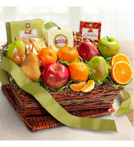 Cheese and Nuts Classic Fruit Basket