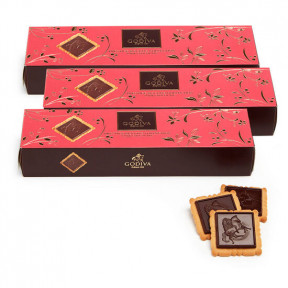 Dark Chocolate Biscuit, Set Of 3, 12 Pc Each