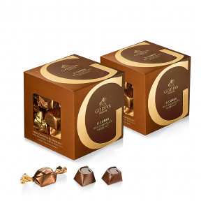 Milk Chocolate Hazelnut G Cube Box, Set of 2, 22 pcs. Each