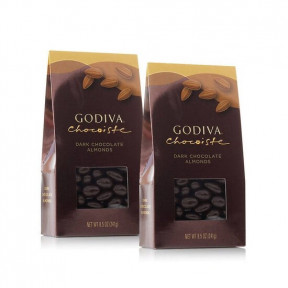 Dark Chocolate Covered Almonds, Set Of 2, 8.5 oz. each