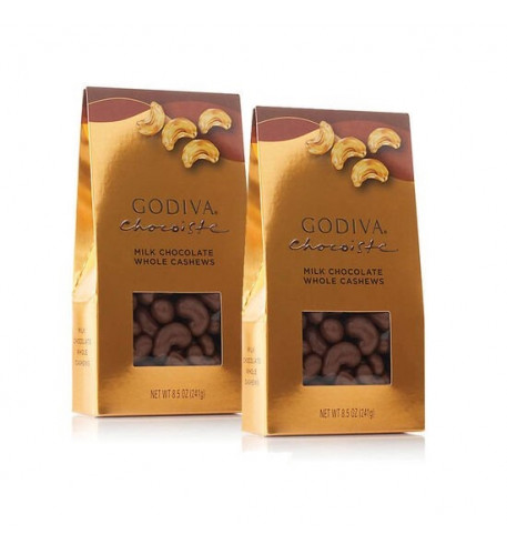 Milk Chocolate Covered Whole Cashews, Set Of 2, 8.5 oz. each