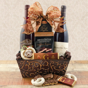 Pinot Noir Duo Wine Gift Basket-1
