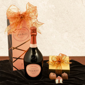 Laurent-Perrier Cuvée Rosé Tin & Truffles Gift Basket