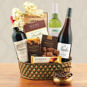 French Trio Wine Gift Baskett