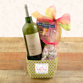 White Bordeaux Wine & Godiva Gift Basket