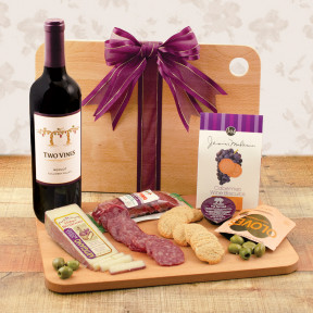 Cutting Edge Wine & Cheese Board Gift