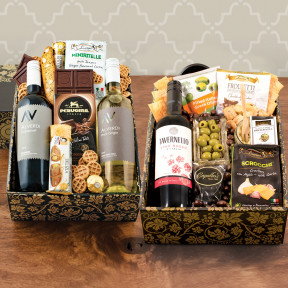 Triple Taste of Italy Wine & Gourmet Double Decker Gift Box