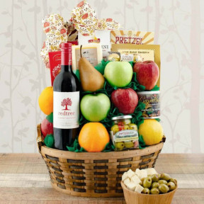 CEO Fruit & Cab Sauv Wine Gift Basket