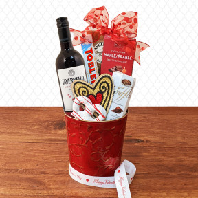 Love Is In The Air Cabernet Red Wine Gift Basket