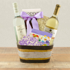 White Wine Duo Gift Basket