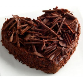 1.5 Kg Heart Shaped Dark Chocolate Cake