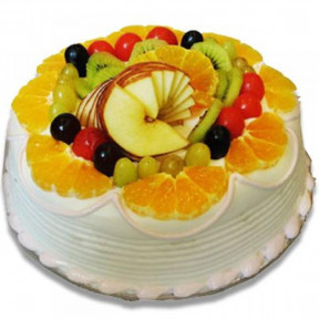 2 Kg Fresh Fruit Vanilla Cake