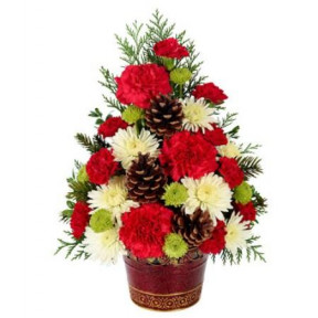 One Sided Flower Arrangement In A Basket