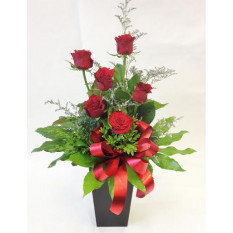 6 Red Roses In A Gift Box