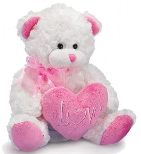 Pink And White Large Teddy Bear