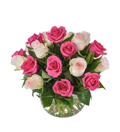 Delightful Pink And White Roses