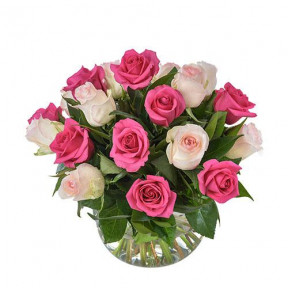 Delightful Pink And White Roses (Small)