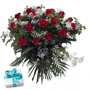 24 Red Roses With Free Chocolates
