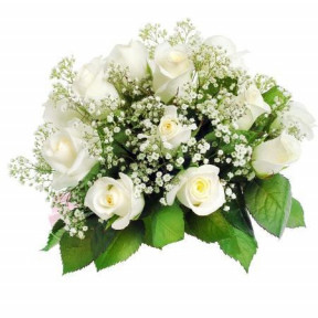 12 White Roses Bouquet