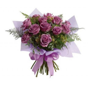 12 Purple Roses Bouquet