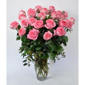 Arrangement Of 24 Pink Roses