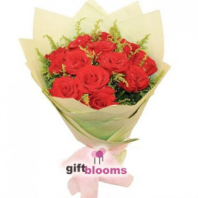 Simply One Dozen Red Rose to Macau