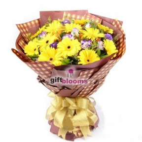 Vibrant Gerbera Bouquet to Macau