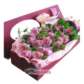 Purple Rose Gift Box to Macau