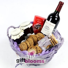 Thinking of You Gourmet and Wine Basket