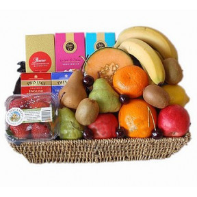 Grand Fruit ,Tea and Biscuits Basket to Japan