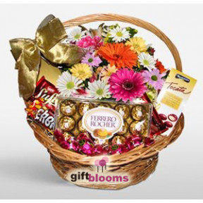 Chocolate and Flower Basket to Japan