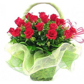 Rose for You Flower Basket to Japan