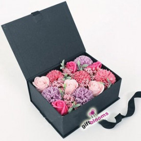 Mother's Day Rose Carnation Soap Flower in Signature Box to Korea
