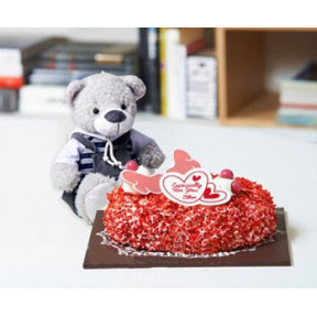 Especially For You Strawberry Cake and Bear to Korea