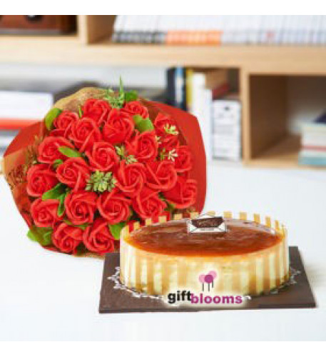 Red Rose and Cake Combo to South Korea