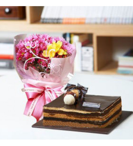 Flower and Chocolate Cake to Seuol