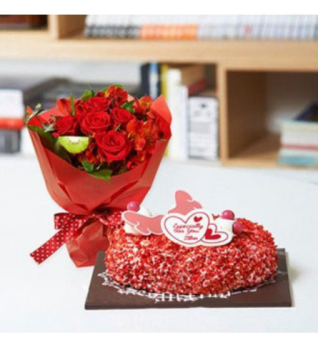 I Love You Flower and Cake to South Korea