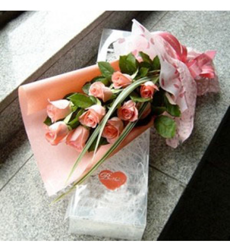 Lovely Pink Rose to South Korea
