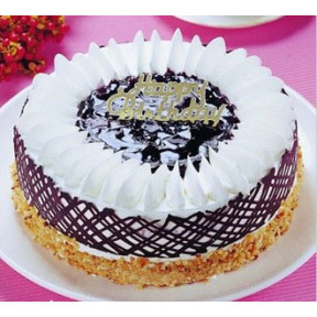 Blueberry Premium 8 Inch Cake to Taiwan