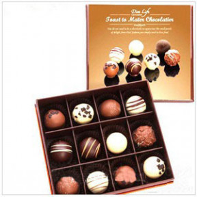 12 Chocolate Truffle Gift Box to Taiwan