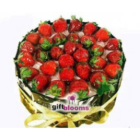 Chocolate Strawberry Cake to Indonesia