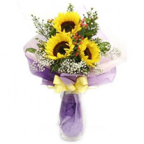Sunflower Bouquet to Indonesia