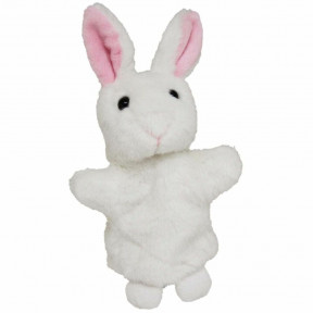 Bunny Hand Puppet Soft Plush Toy Stuffed Animal By Elka
