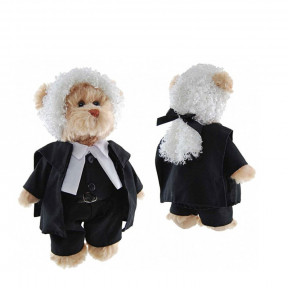 Lawyer or Judge Teddy Bear With Wig & Court Robes