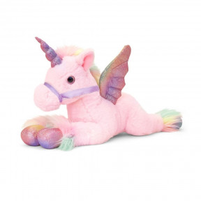 Small Pink Unicorn Soft Plush Toy By Keel Toys