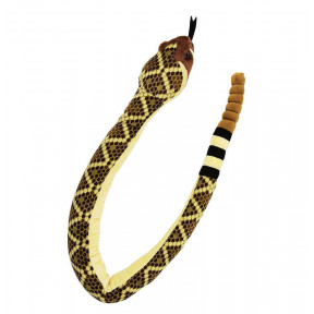 West Diamond Back Snake Soft Toy With Sound 137Cm Plush Toy By Wild Republic
