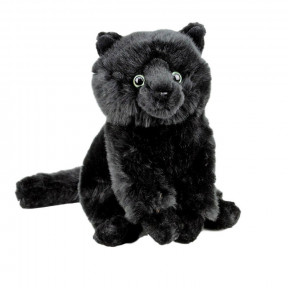 Black tabby cat soft plush toy 30cm stuffed animal