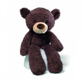 Gund Fuzzy Chocolate teddy bear stuffed animal 33cm long