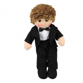 Rag Doll James Boy Black Tuxedo Soft Doll Toy
