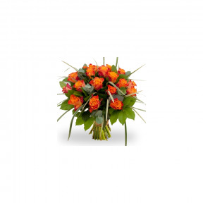 Boquet Of Orange Roses (9 roses)